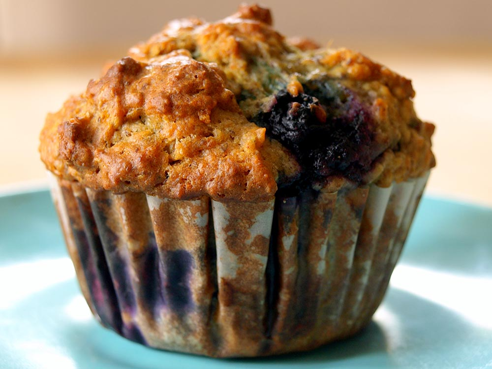 Healthy Blueberry Muffins | Dinner with Aura
