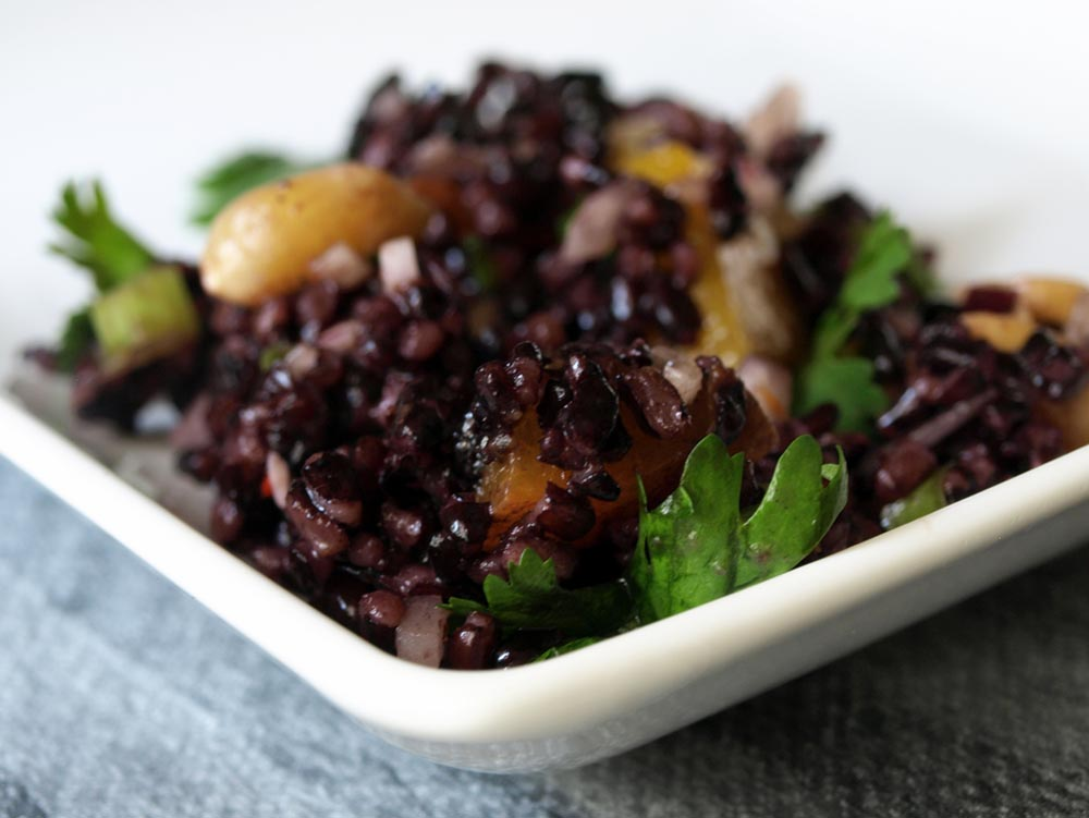Black Rice Salad with Mango and Peanuts | Dinner with Aura