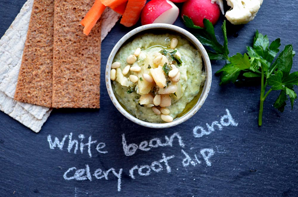 White Bean and Celery Root Dip With Fresh Herbs