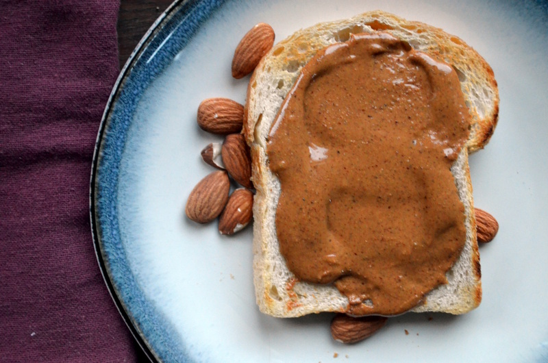 Toast with Roasted Almond Butter