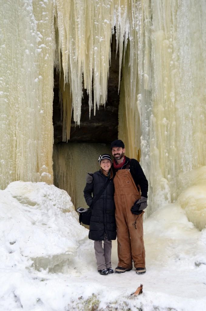 Aura and Drew Eben Ice Caves